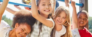 Older couple jogging outside