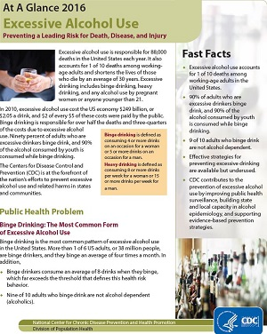 Excessive Alcohol Use At a Glance PDF preview