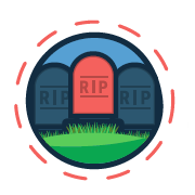 vector image of tombstones and RIP message