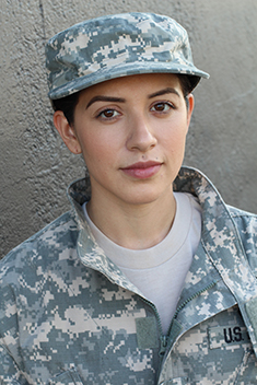 Photo of a female soldier