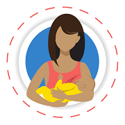 mother breastfeeding infant