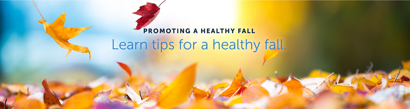 Promoting a healthy fall. Learn tips for a healthy fall.