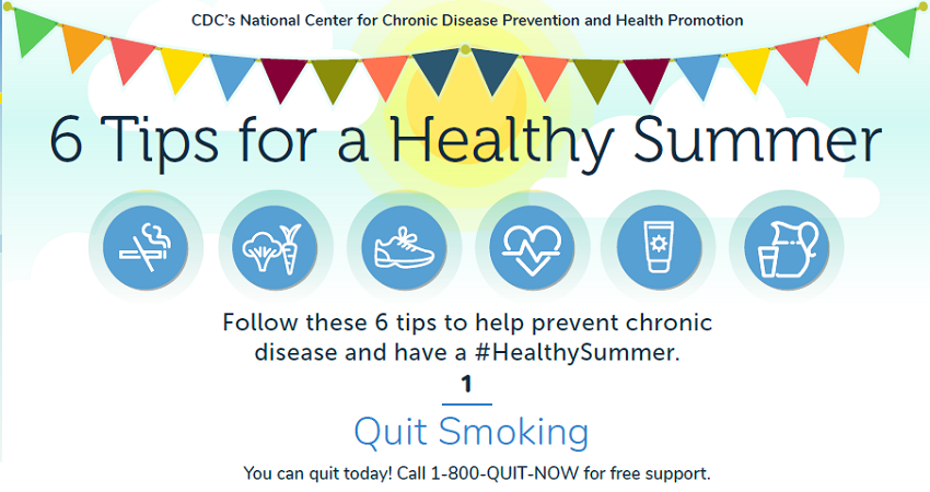 Health Summer infographic