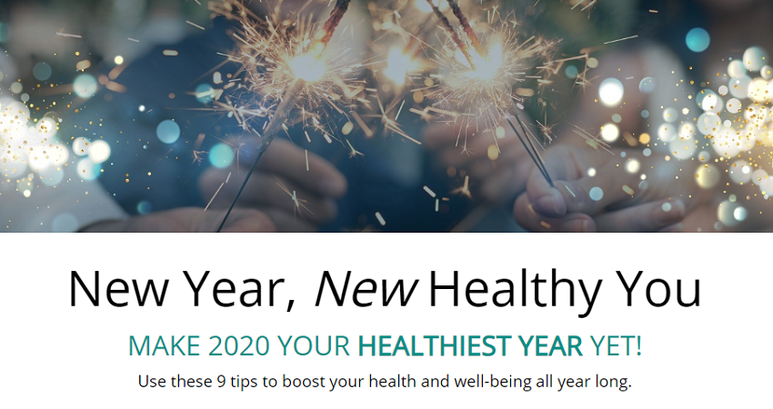 New Year, New Healthy You infographic header