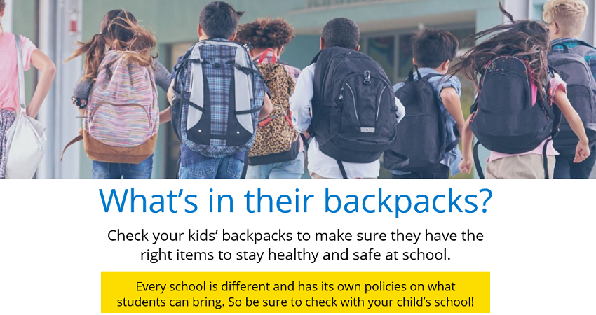 What's in their backpacks?