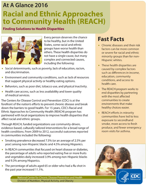Racial and Ethnic Approaches to Community Health (REACH) | At A ...