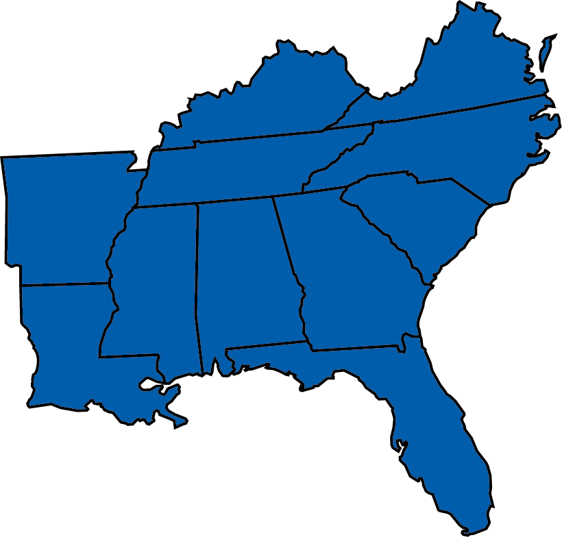 The Southeast of the United States