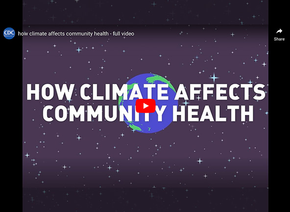intro screen from a climate and health video