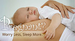 eCard: Pregnant? Worry less. Sleep more.