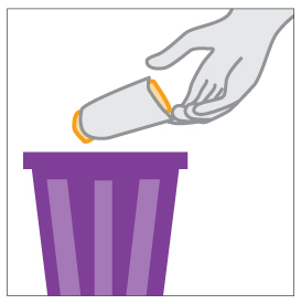 Throw away used female condom in trash.
