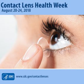 CLHW 2018 - a woman putting in a contact lens