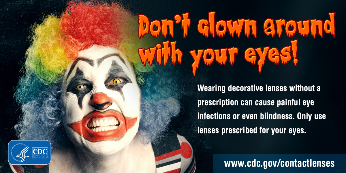 Don't clown around with your eyes.  For Twitter.