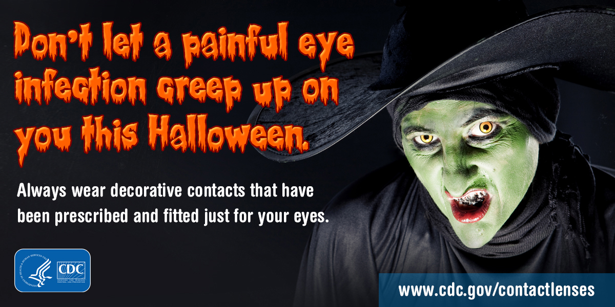 Don't let a painful eye infection creep up on you this Halloween. For Twitter.
