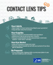 Contact Lenses tear-off pad
