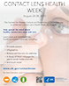 Contact Lens Health Week - Help spread the word about healthy contact lens wear and care.