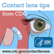 Contact Lens Tips from CDC with URL added