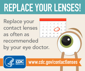 Do replace your contact lenses.