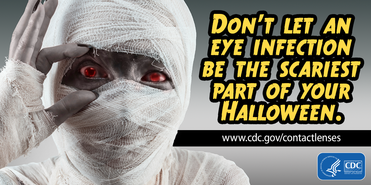 Don't Let an Eye Infection Be the Scariest Part of Your Halloween (English - for Twitter)
