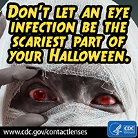 Don't let an eye infection be the scariest part of your Halloween.