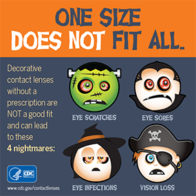 Dont let an eye infection be the scariest part of your Halloween.  sc 1 st  CDC & Keep Your Eyes Safe on Halloween| Contact Lenses | CDC