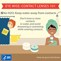 Keep water away from contacts