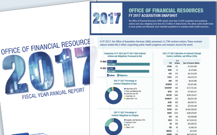 Office of Financial Resources fiscal year 2017 acquisition snapshot