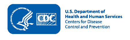 Health and Human Services (HHS) and Centers for Disease Control and Prevention (CDC) logos