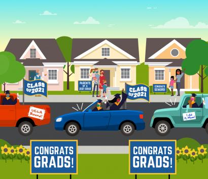 Desfile de graduados