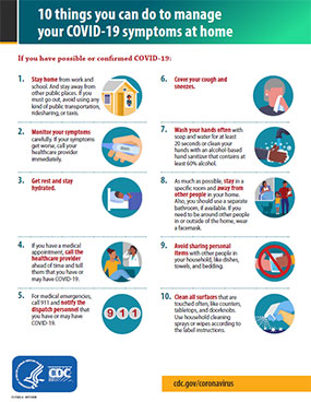 Poster: 10 ways to manage respiratory symptoms at home