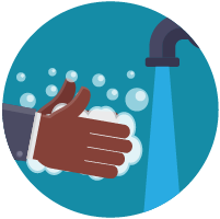 Illustration: washing hands