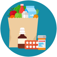 Prescription medicines and groceries