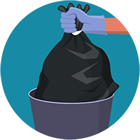 Illustration of trash bag