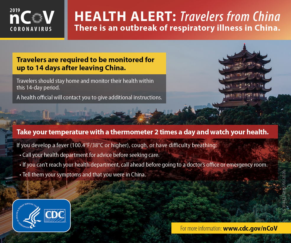 Infographic: Health Alert: Travelers from Wuhan, China