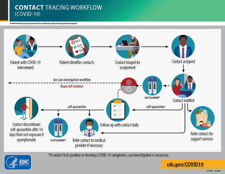 Contact tracing flow chart