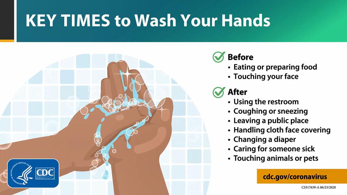 Những thời điểm chính cần rửa tay