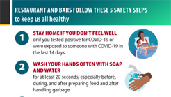 Follow these safety steps to keep us all healthy! (Restaurants a
