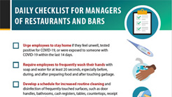 Restaurants & Bars managers checklist - COVID19