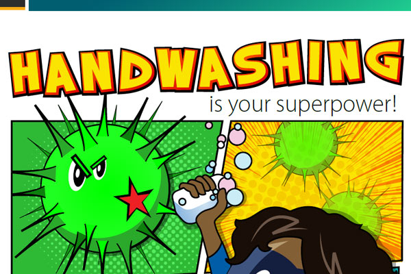 Handwashing is your superpower!