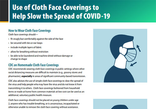 Use of cloth face coverings to help slow the spread of COVID-19