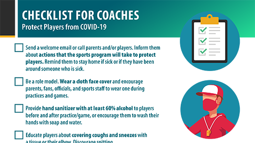 Checklist for Coaches to Protect Players from COVID-19