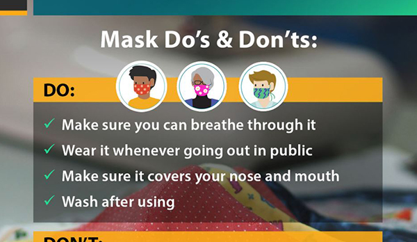 Cloth Face covering Do's and Dont's