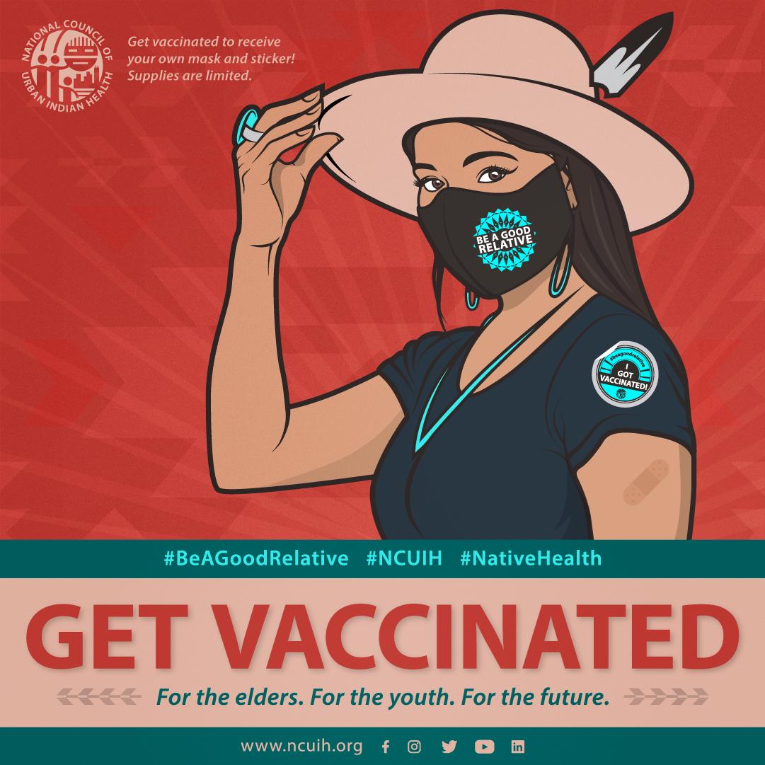 백신을 접종 받는 여성