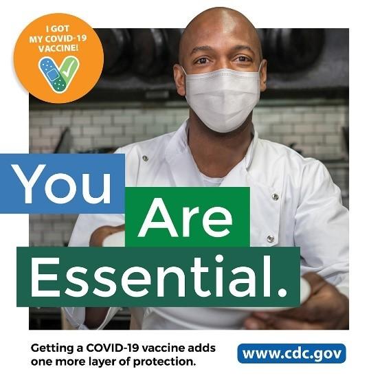 您是基本服务员工。接种COVID-19疫苗可为您提供一层额外保护