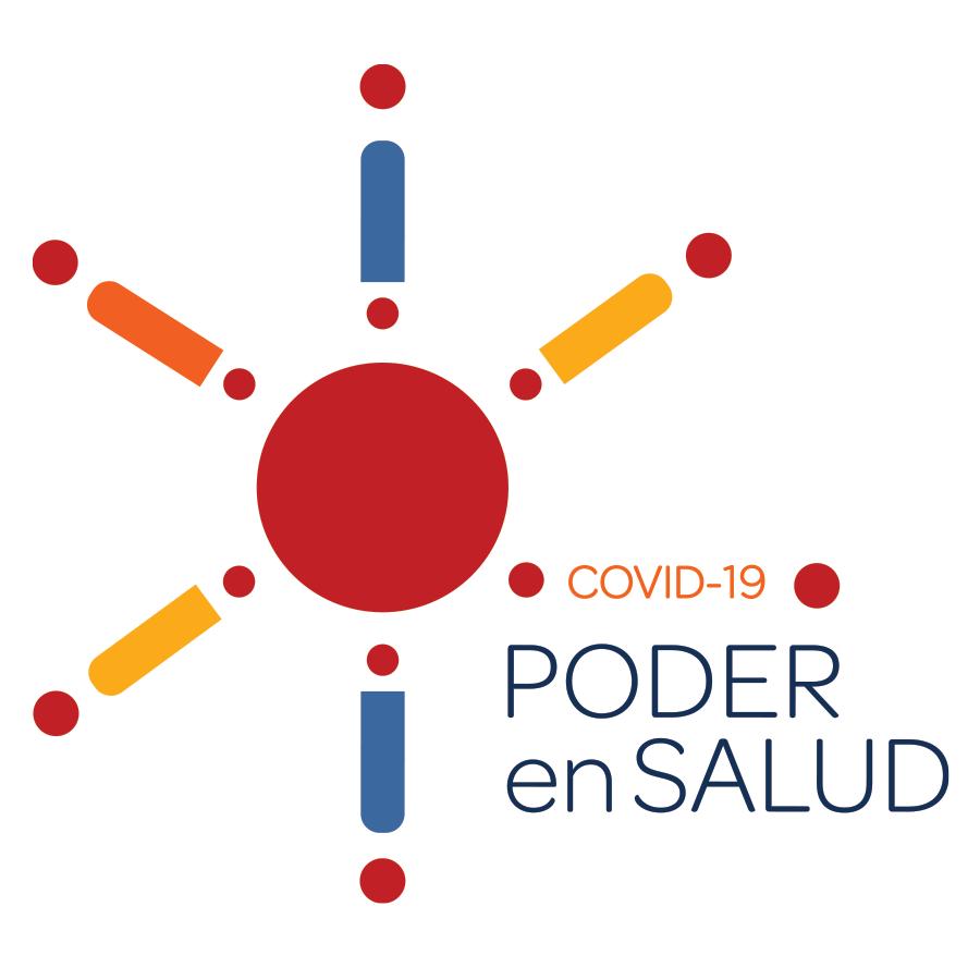 Logotipo de COVID-19 PODER en SALUD