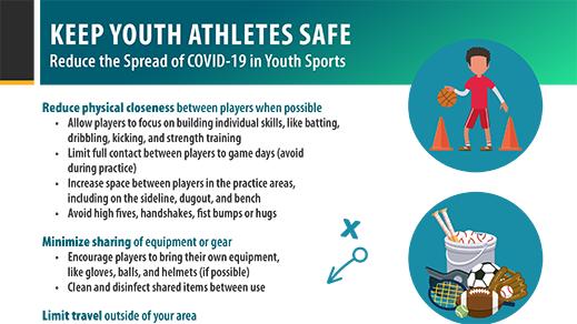 선수 안전 유지 - 청소년 스포츠계 COVID-19 확산 방지