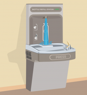 bottle refill station