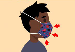graphic of a boy wearing a blue mask
