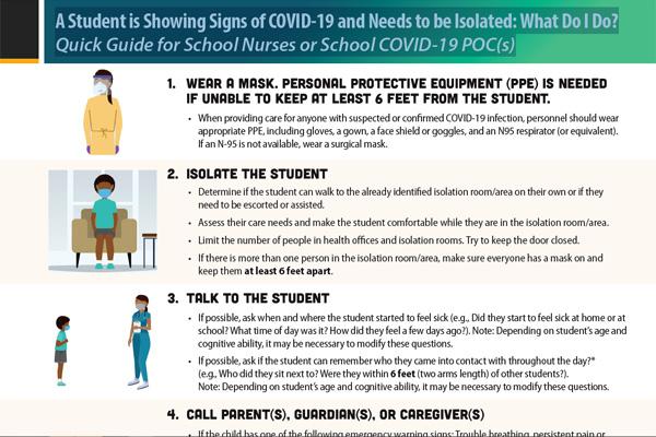 有一个学生出现covid-19体征:学校护士快速指南