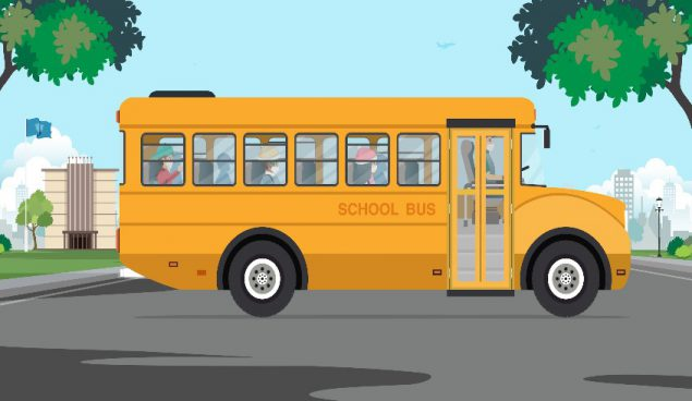 载有儿童的校车
