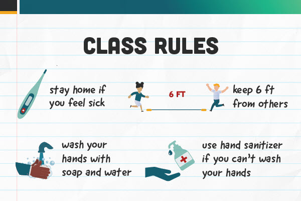 K-12 Students class rules poster